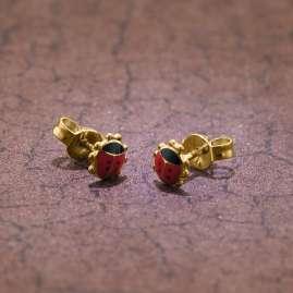 trendor 35926 Ladybeetle Earrings Gold