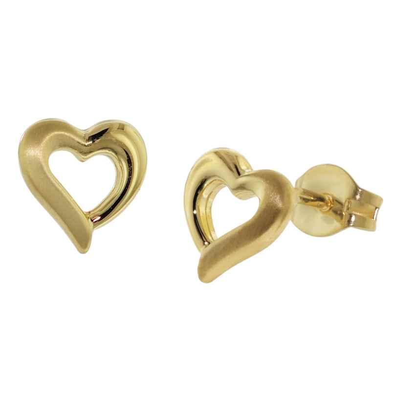 trendor 35928 Earrings Gold Heart 4260435359289