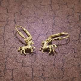 trendor 08485 Ohrringe für Mädchen Pferde Gold 333/8 Karat