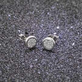 trendor 08536 Silver Cubic Zirconia Stud Earrings