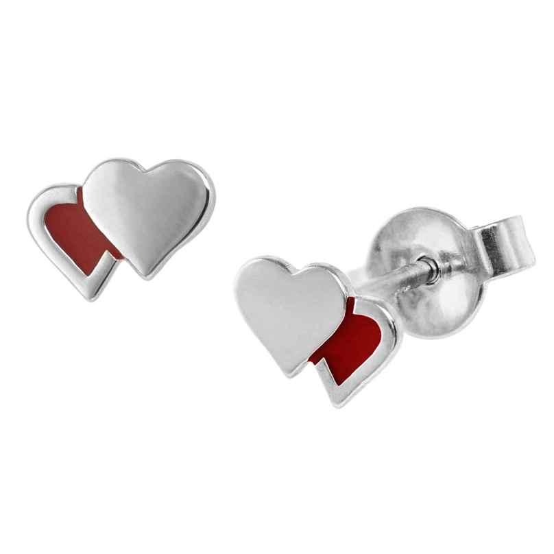 trendor 08533 Mädchen-Ohrringe Herzchen Silber 4260497085331