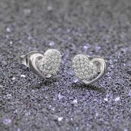 trendor 08606 Silber Ohrschmuck Glänzendes Herz