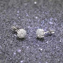 trendor 08713 Ladies' Stud Earrings White Gold 333/8 ct