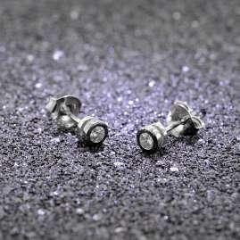 trendor 08763 Silber-Ohrringe mit Zirkonias