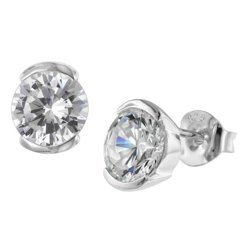 trendor 08764 Silver Earrings with Cubic Zirconias 4260497087649