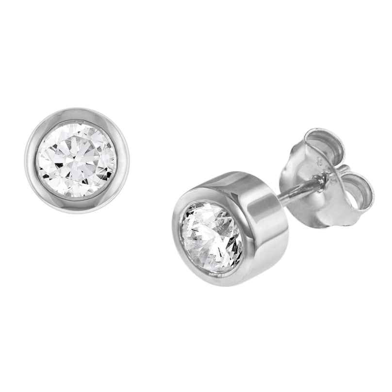 trendor 08767 Silver Earrings with Cubic Zirconias 4260497087670