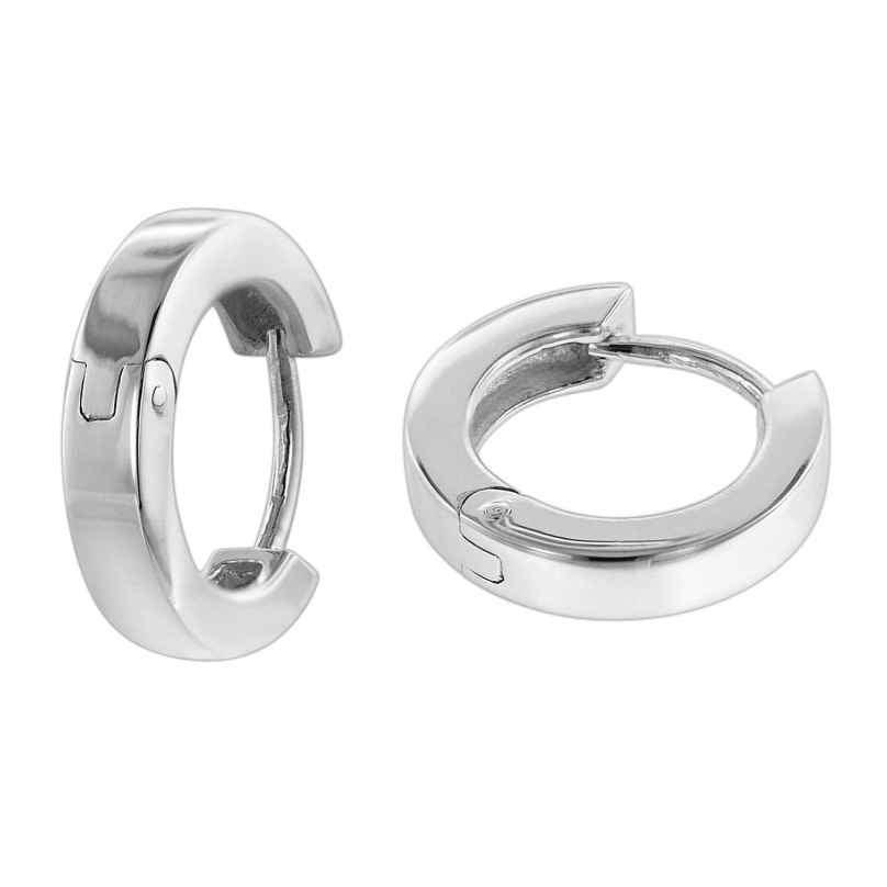 trendor 08768 Women's Hoop Earrings Silver Ø 14 mm 4260497087687