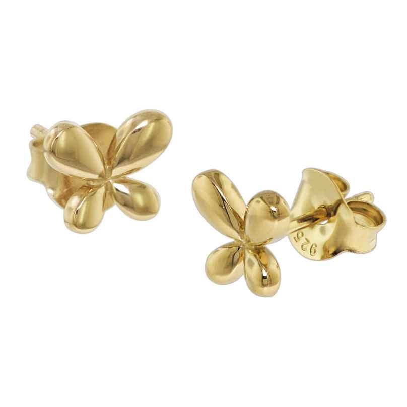 trendor 08770 Ohrringe Silber 925 Goldplattiert Butterfly 4260497087700