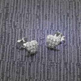 trendor 08771 Ohrringe Silber 925 Herz mit Zirkonia Pavé