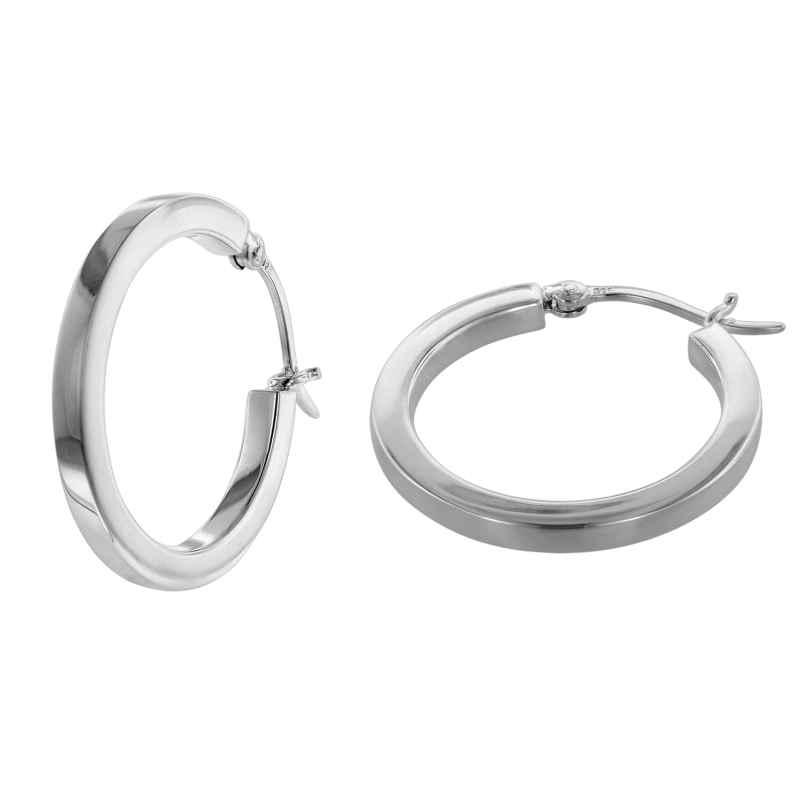 trendor 08772 Ohrringe Silber 925 Creolen 25 mm 4260497087724