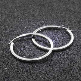 trendor 08774 Earrings Silver Hoops 40 mm