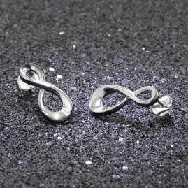 trendor 08775 Silver Earrings Infinity