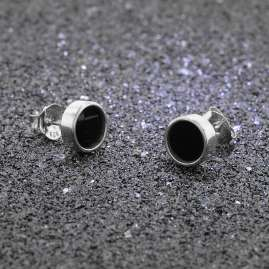 trendor 08777 Silver Earrings with Onyx