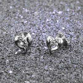 trendor 08781 Silver Earrings Heart with Marcasites