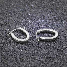 trendor 08782 Earrings Silver 18 mm