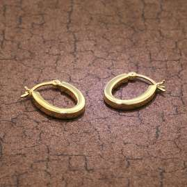 trendor 08784 Silver Earrings 18 mm Gold-Plated