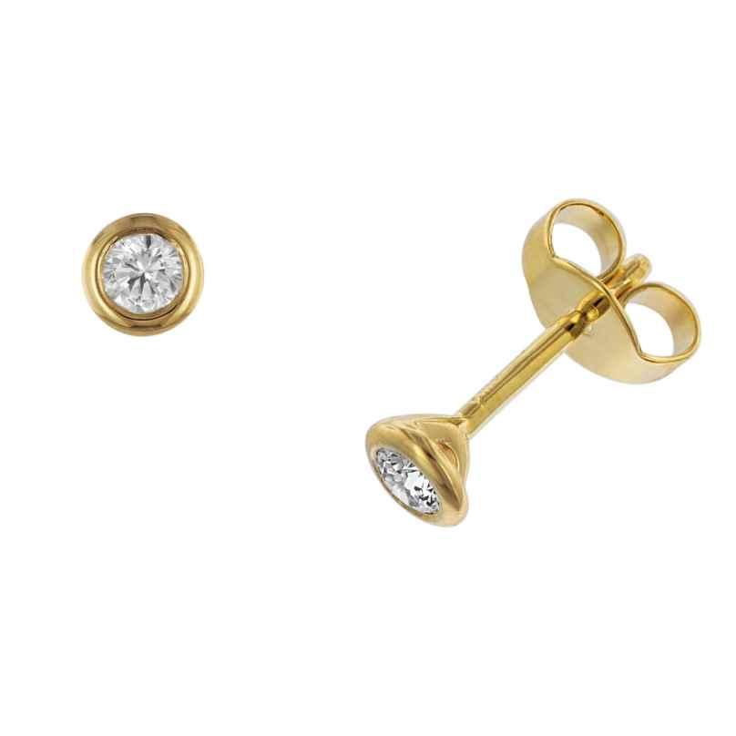 trendor 532644 Damen-Ohrringe Ohrstecker aus Gold 585 mit Diamant 0,20 kt. 4006025326442