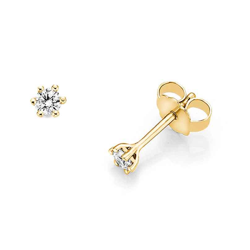 trendor 532650 Ohrringe mit Diamanten 0,10 kt. Gold 585/14K 4006025326503