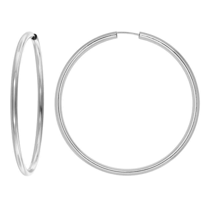 trendor 08858 Damen-Ohrringe Silber Creolen XL 60 mm 4260497088585