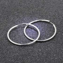 trendor 08858 Women's Hoop Earrings Silver XL 60 mm