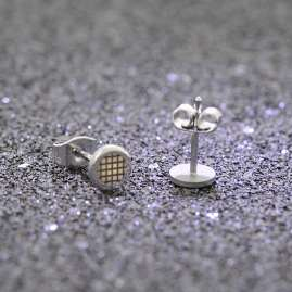 trendor 08908 Men's Stainless Steel Earrings 6.1 mm