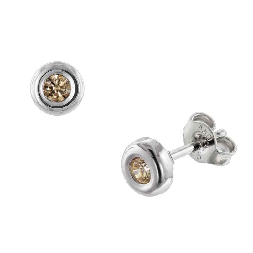 trendor 08913 Silver Stud Earrings Fancy Cubic Zirconia 4260497089131