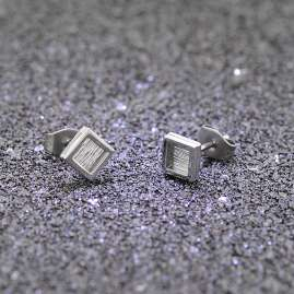 trendor 75004 Stainless Steel Men's Stud Earrings