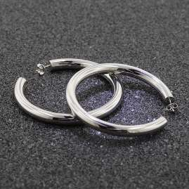trendor 75027 Silber Creolen Ohrringe 60 mm