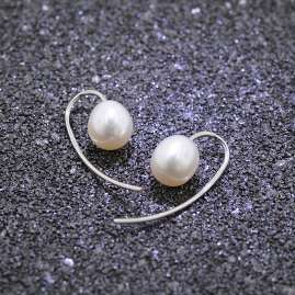 trendor 75078 Earrings for Ladies Silver 925 Freshwater Cultured Pearl