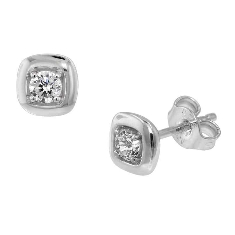 trendor 75084 Ohrringe für Damen Silber 925 mit Zirkonia 6 mm 4260641750849
