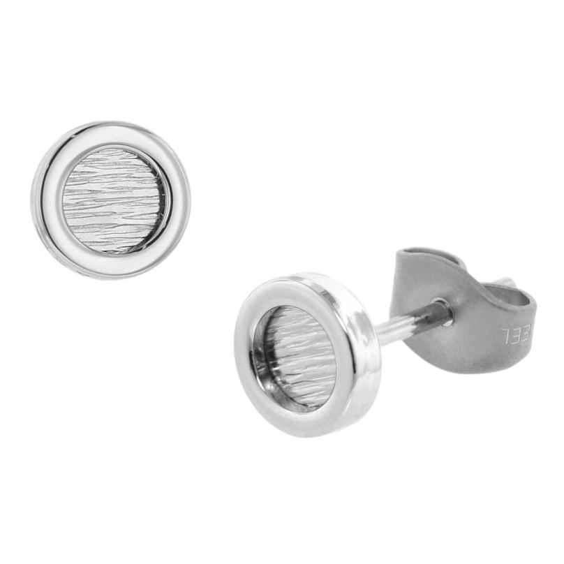 trendor 75073 Stud Earrings for Men Stainless Steel 6.2 mm 4260641750733