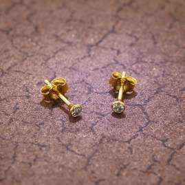 trendor 75097 Ohrstecker für Frauen und Männer 585 Gold (14 Kt) Zirkonia 3,0 m