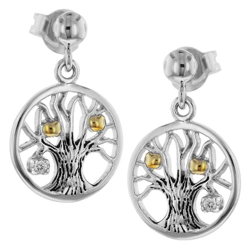 trendor 75502 Earrings Tree Of Life Silver 925 4260641755028