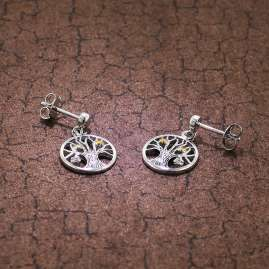 trendor 75502 Earrings Tree Of Life Silver 925