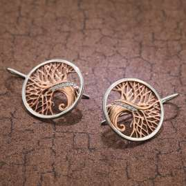 trendor 75508 Women's Earrings Tree Of Life Silver 925