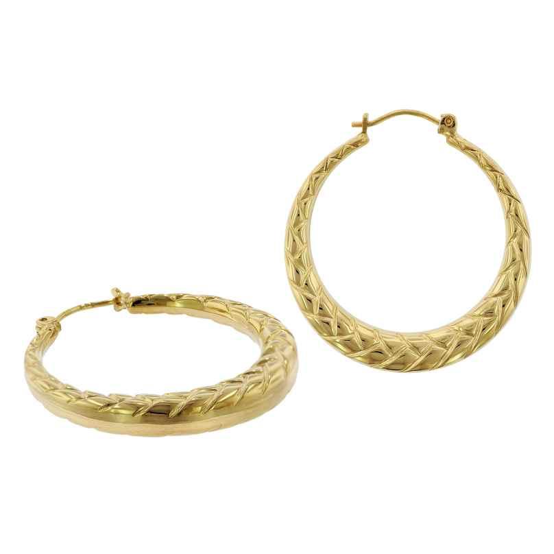trendor 75788 Creolen Ohrringe 333 Gold 8 Karat 28 mm 4260641757886
