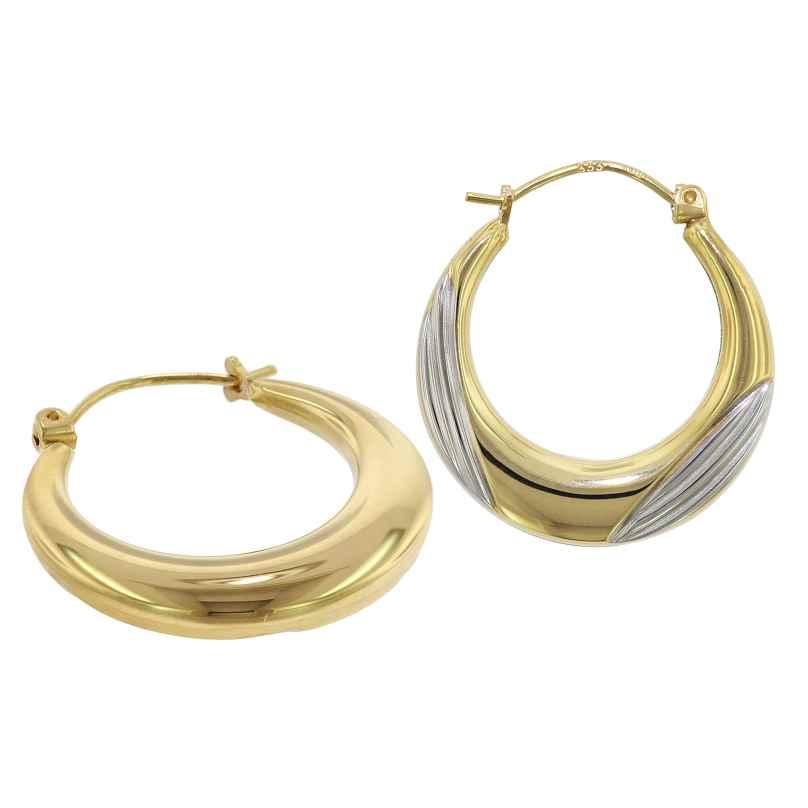 trendor 75789 Creolen Ohrringe 333 Gold 8 Karat Bicolor 22 mm 4260641757893