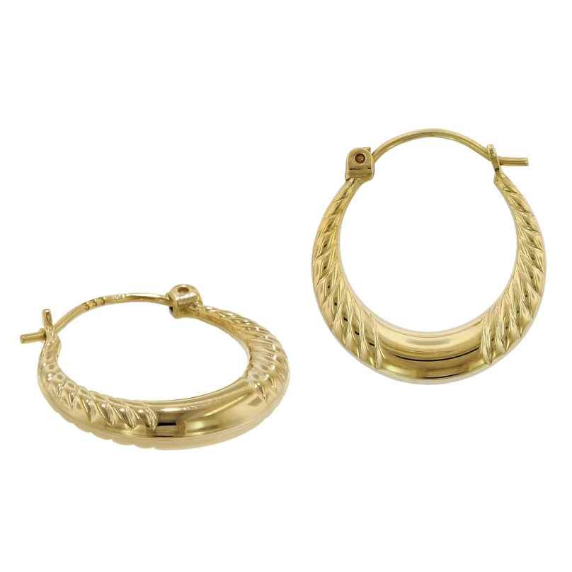 trendor 75791 Creolen Ohrringe 333 Gold 8 Karat 17 mm 4260641757916