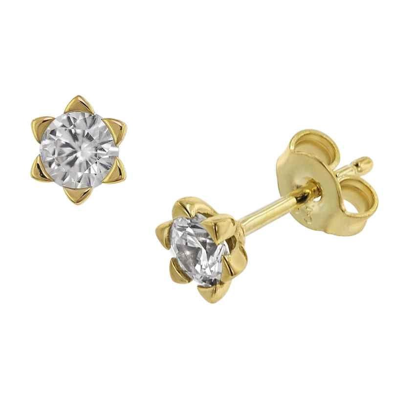 trendor 75795 Stud Earrings Cubic Zirconia 333 Gold 8 Carat 4260641757954