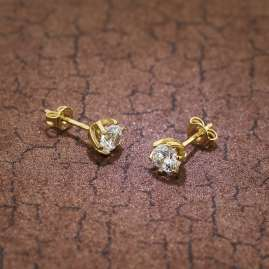 trendor 75797 Stud Earrings 333 Gold 8 Carat with Cubic Zirconia