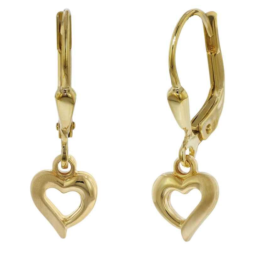 trendor 75816 Children's Earrings Hearts Gold Plated Silver for Girls 4260641758166