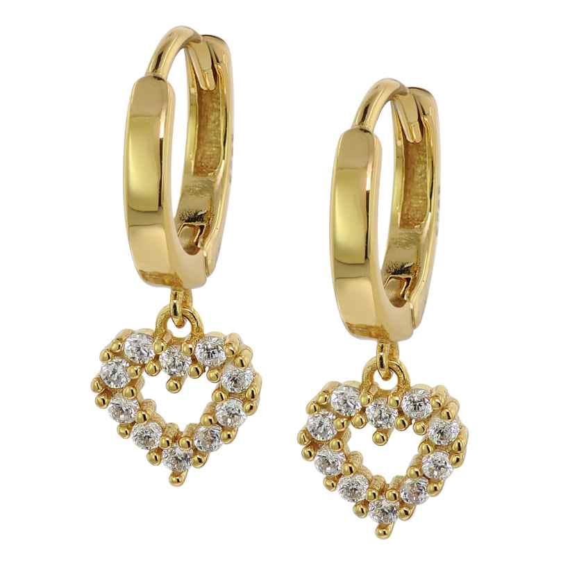trendor 75843 Ohrringe Gold auf Silber Zirkonia Creolen Ohrhänger 4260641758432