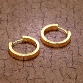 trendor 75844 Hoop Earrings Gold Plated Silver Ø 20 mm