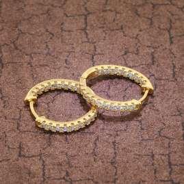 trendor 75845 Creolen Ohrringe Gold auf Silber Ø 19 mm Zirkonia