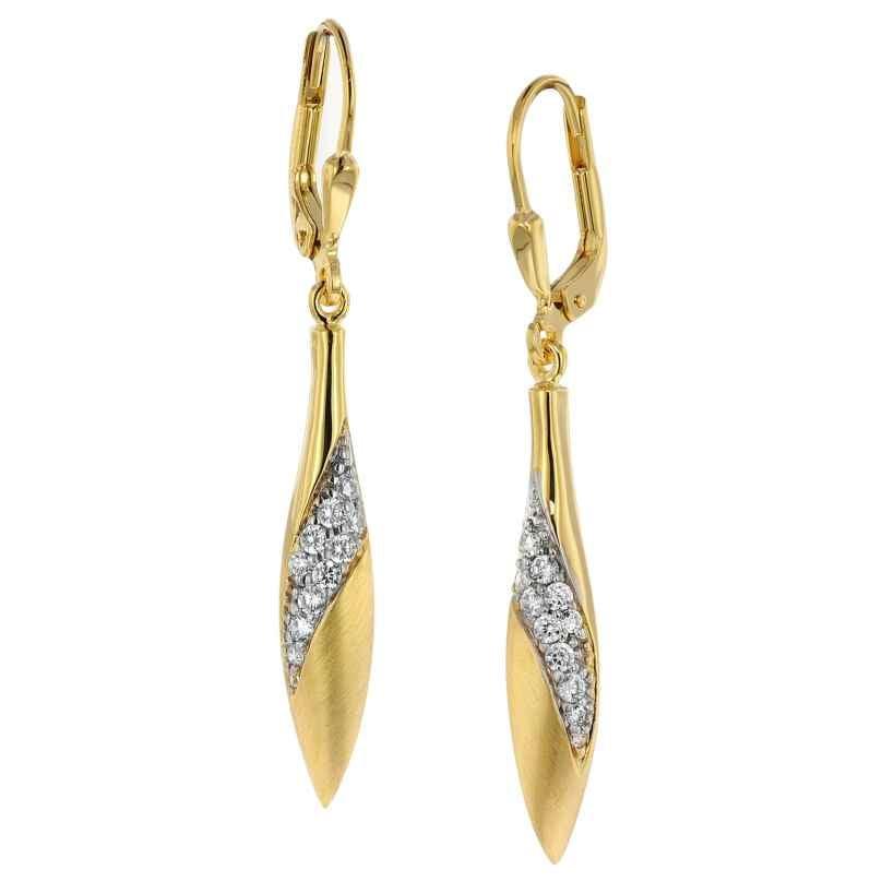 trendor 39032 Ohrringe Gold auf Silber Zirkonia 4260684390323