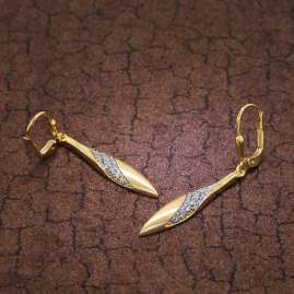 trendor 39032 Ohrringe Gold auf Silber Zirkonia