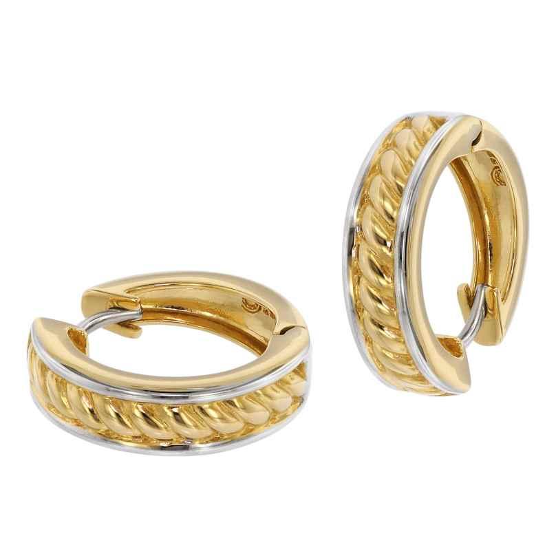 trendor 39063 Damen-Ohrringe Creolen Gold 333 Bicolor 4260684390637