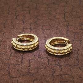 trendor 39064 Damen-Creolen Ohrringe Gold 333 Bicolor