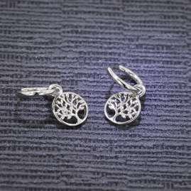 trendor 51020 Women's Hoop Earrings with Tree Of Life 925 Silver