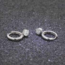 trendor 51031 Creolen Ohrringe mit Herz-Einhänger 925 Silber